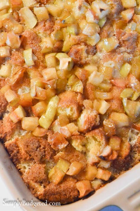 Apple Doughnut Bread Pudding