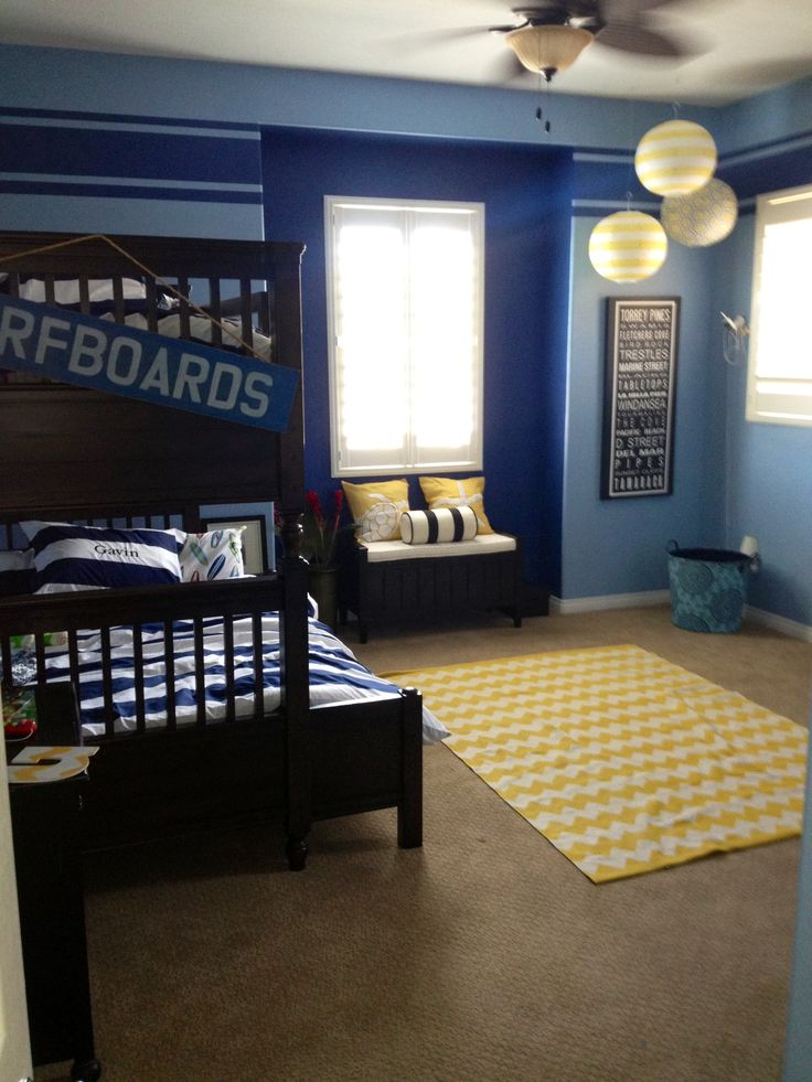 Pin by torey wenstone on kids 39 rooms pinterest for Surfing bedroom designs