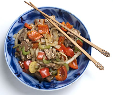 Black Pepper Beef is a weeknight-quick classic Chinese stir fry. Onion ...
