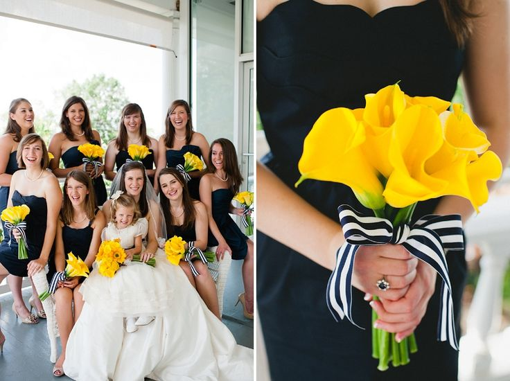 modern navy yellow alabama wedding
