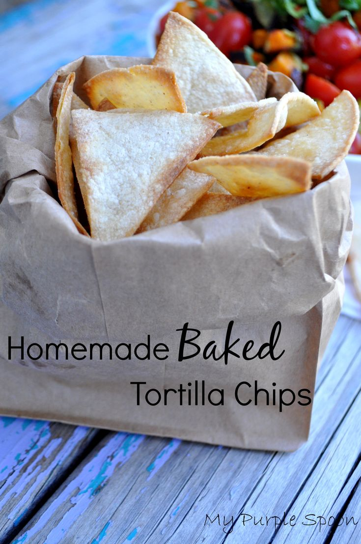 Homemade Baked Tortilla Chips | Food Drinks, and Desserts | Pinterest