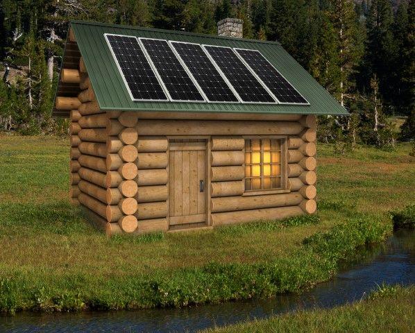 Solar Powered Cabin Small House Pinterest