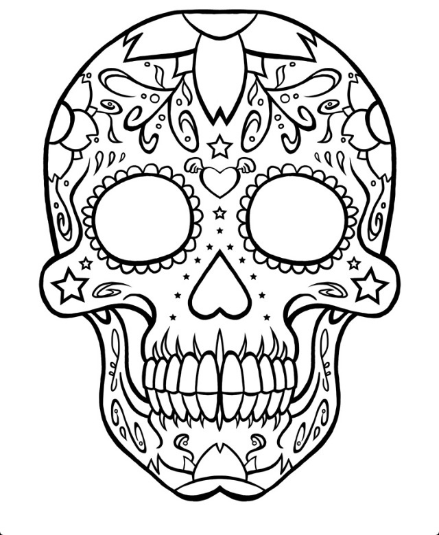 Gallery For gt Blank Sugar Skull Outline