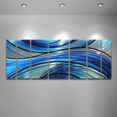 Modern Abstract Metal Wall Art Painting Sculpture Huge EBay