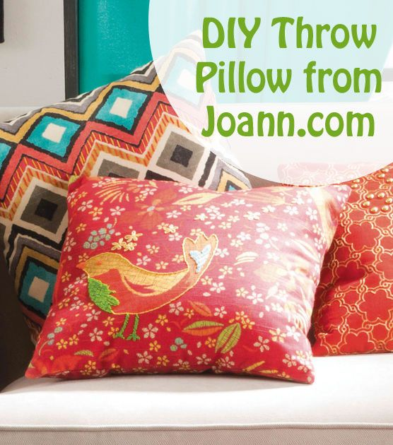 #DIY Throw Pillow from Joann.com Home Decor with Jo-Ann Pinterest