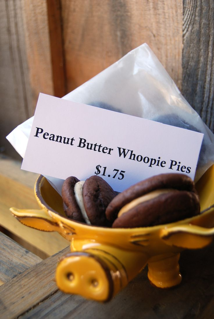 Peanut butter & chocolate whoopie pies! Weekend special - Hubba Hubba ...