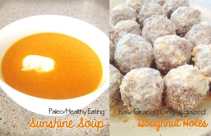 Healthy Recipes | Sunshine Soup and Raw Orange Ginger glazed Doughnut ...