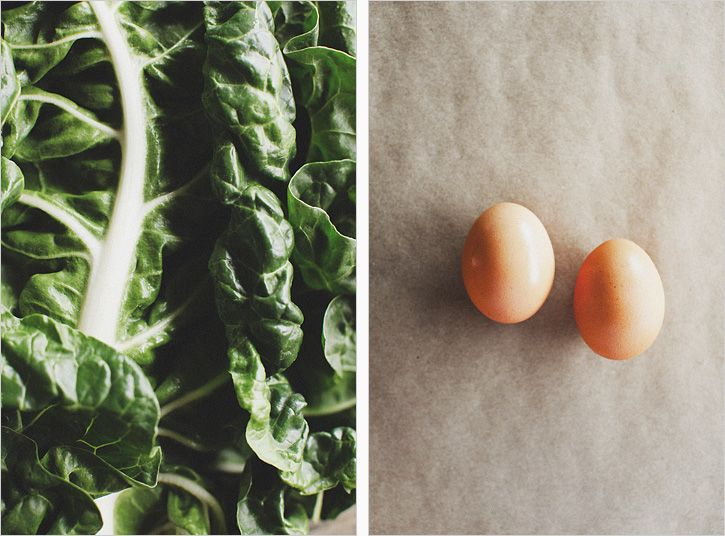 Sunny Eggs and Mustard Creamed Chard | Cooking | Pinterest