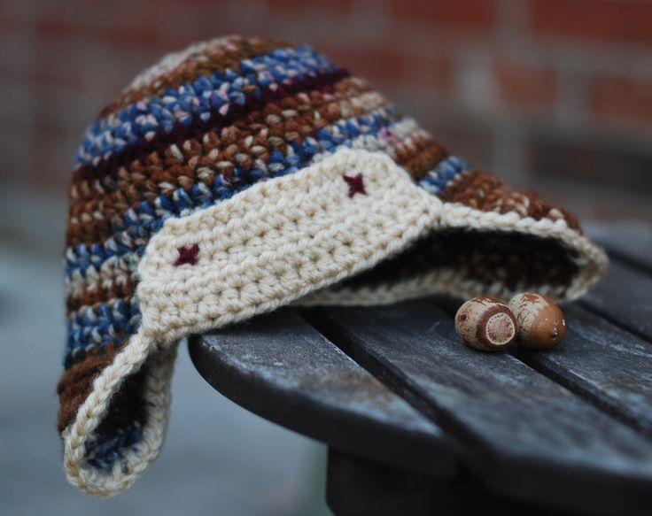 Free Crochet Pattern For Aviator Hat : Aviator Hat ~ free pattern Crochet Pinterest