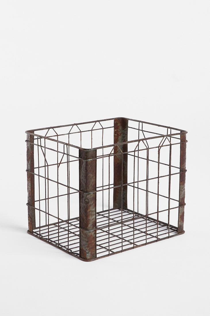 wire storage basket. Black Bedroom Furniture Sets. Home Design Ideas