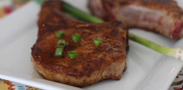 Maple Black Pepper Pork Chops Recipe — Dishmaps