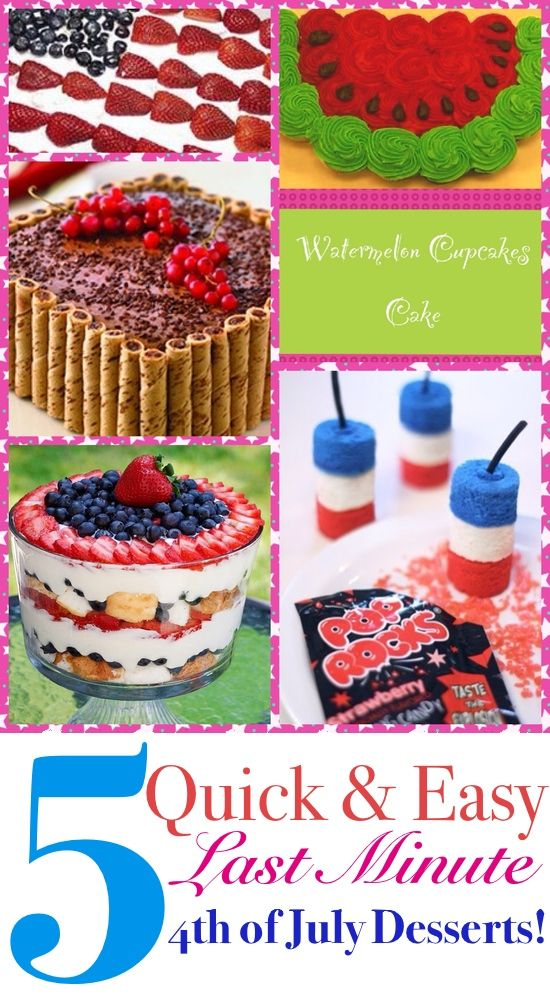 quick and easy 4th of july dessert recipes