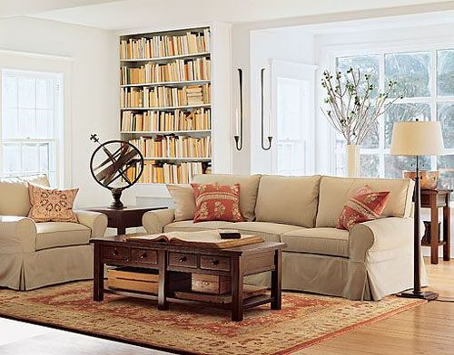 pottery barn living room library nook for the home