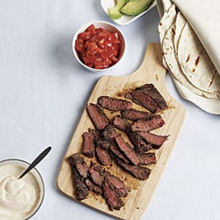 Skirt Steak Tacos with Spicy Sour Cream Recipe on Key Ingredient at ...