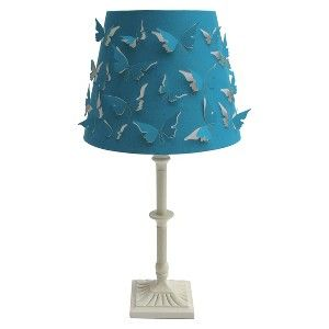 xhilaration butterfly shade table lamp nursery ideas pinterest. Black Bedroom Furniture Sets. Home Design Ideas