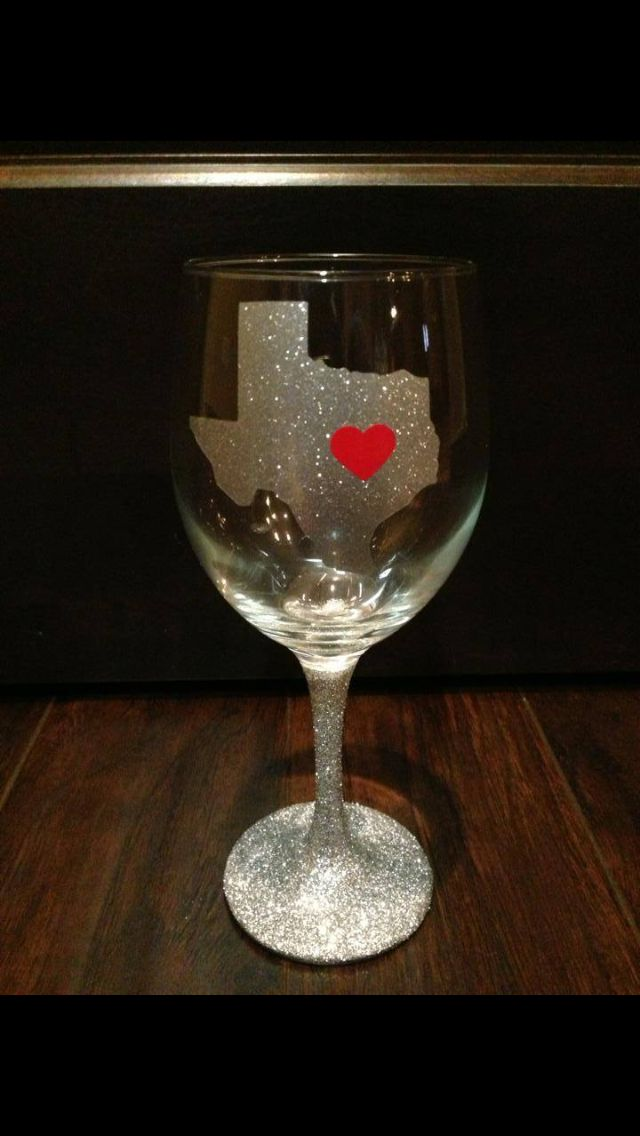 texas gals wine glasses