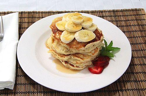 Fluffy Banana Buttermilk Pancakes - these were just ok...each pancake ...