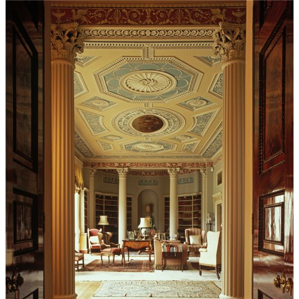 Newby Hall The Library Robert Adam Design Skelton On Ure Near Part 44