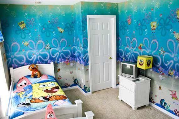 spongebob bedroom kids pinterest