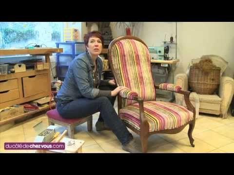 Relooker un fauteuil voltaire avant apr s pinterest - Recouvrir une chaise ...