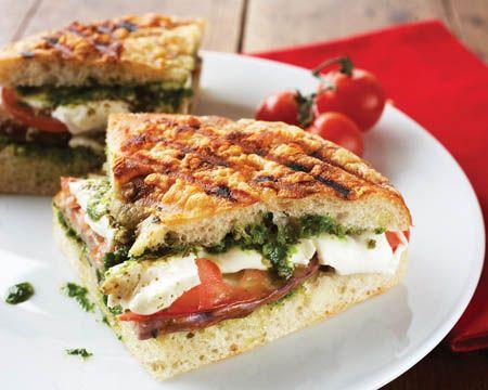 Grilled Eggplant and Mozzarella Panini | Dagwood's Dinner | Pinterest