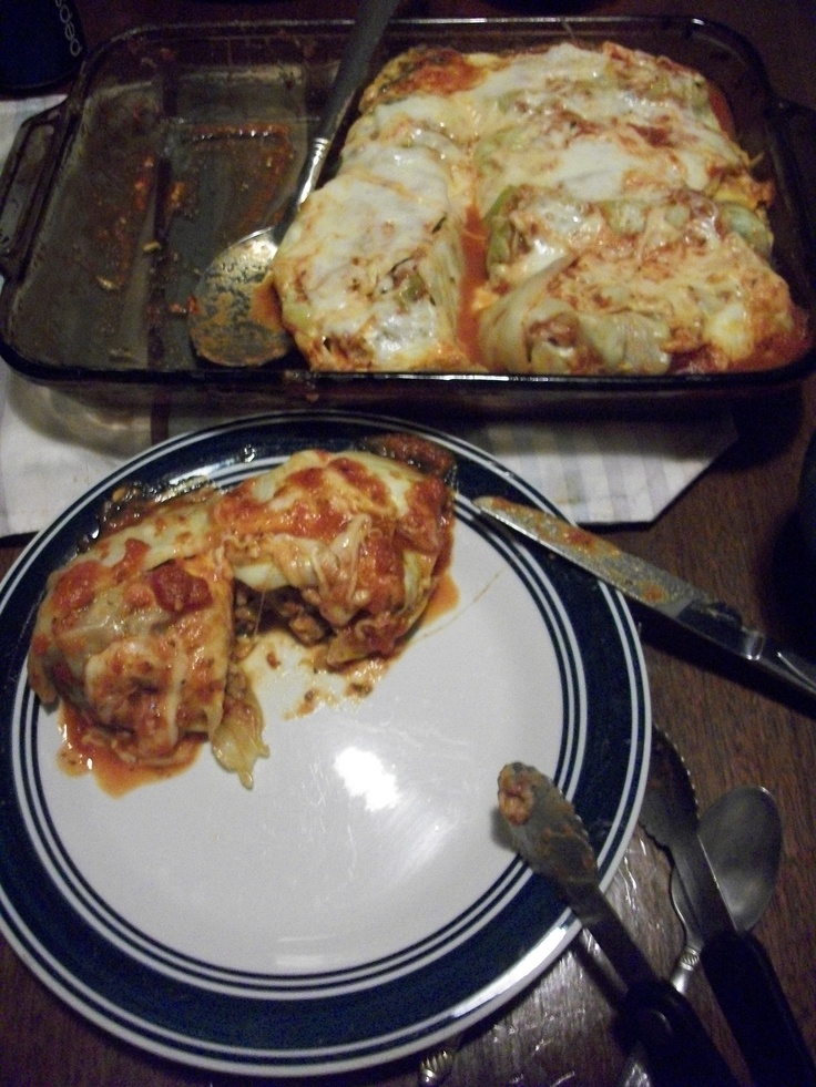 Italian Stuffed Cabbage Rolls! So It's easy ! pound lean ground meat ...