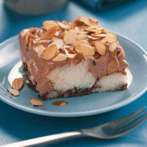 No Bake Chocolate Almond Dessert Recipe--just buy a store bought angel ...
