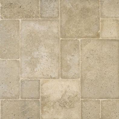 French Pattern Travertine Tile Design Bathroom Ideas