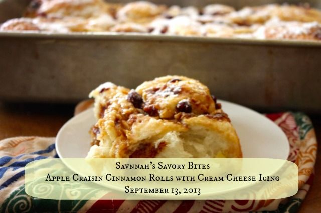 Apple Craisin Cinnamon Rolls with Cream Cheese Icing - Hammock Tracks