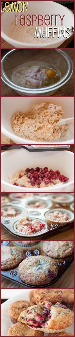 Lemon Raspberry Yogurt Muffins | Recipe