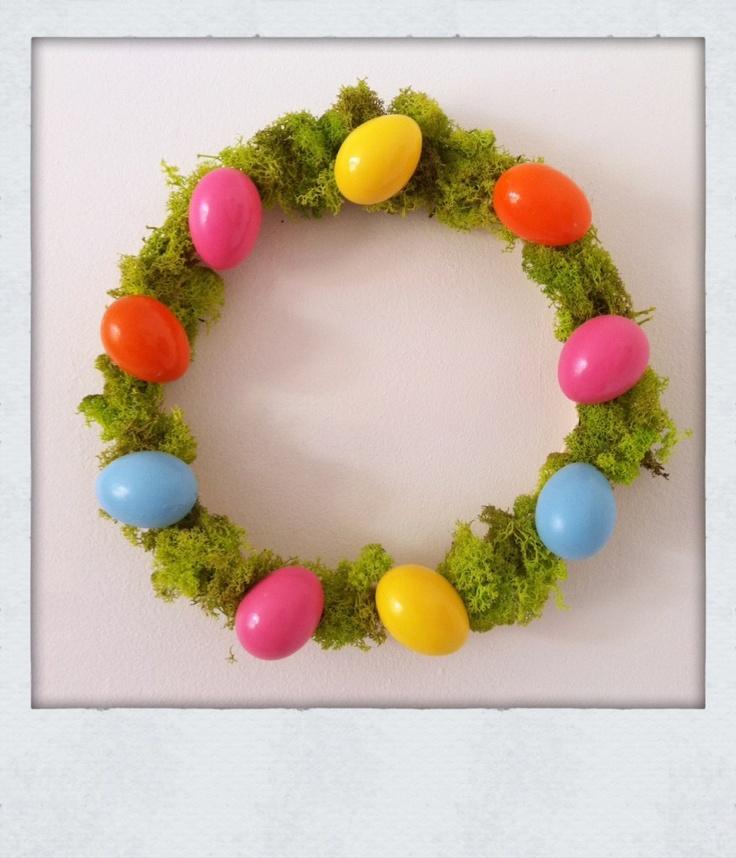 Easy Easter wreath.