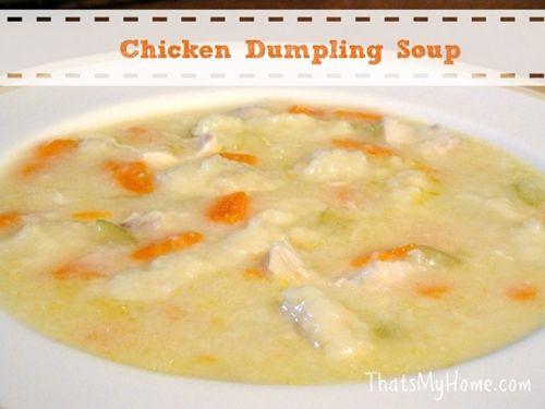 Chicken Dumpling Soup | recipes I should try! | Pinterest