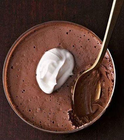 Chocolate #espresso mousse. | Puddings & Mousses | Pinterest