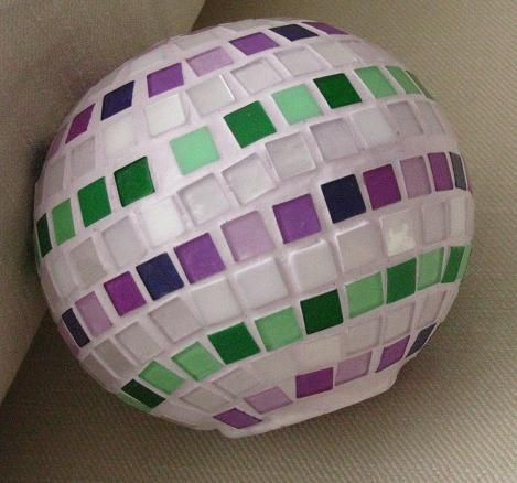 Mozaiková guľa Mosaic ball Handmade