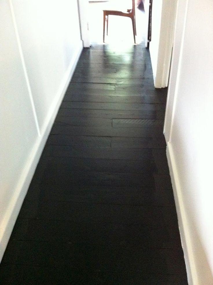 Painted black floors new house ideas pinterest - Painted parquet floor pictures ...