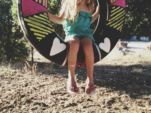 painted tire swing diy gimme gimme pinterest