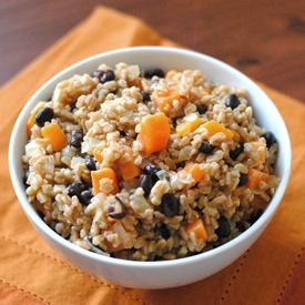 Sweet potato and black bean farrotto - a spin on a classic risotto ...