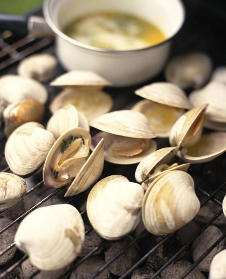 Grilled Clams With Herb Butter | yumminess | Pinterest