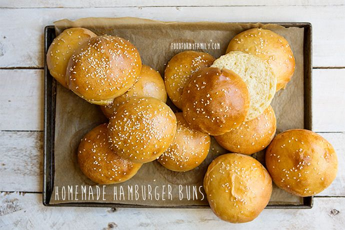 Homemade Hamburger Buns #recipe via FoodforMyFamily.com