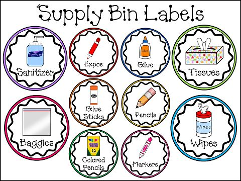 Peace, Love and Learning - Supply Labels