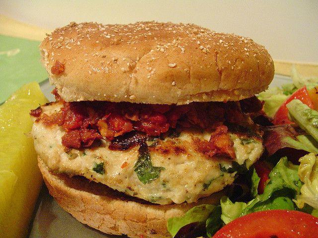 mediterranean chicken burgers by Elly Says Opa, via Flickr