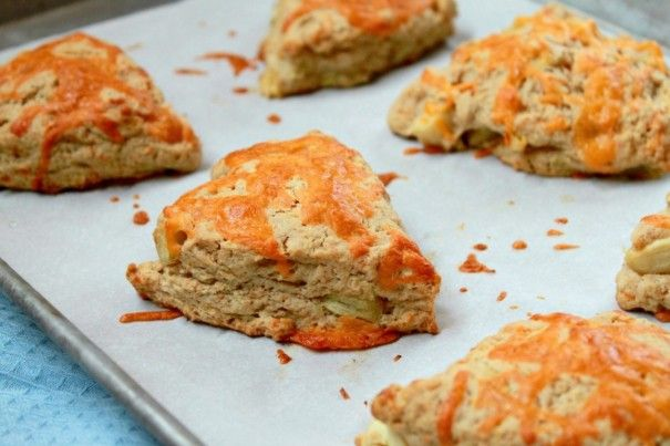 apple, cheddar, and whole wheat scones. actually, i like the additions ...
