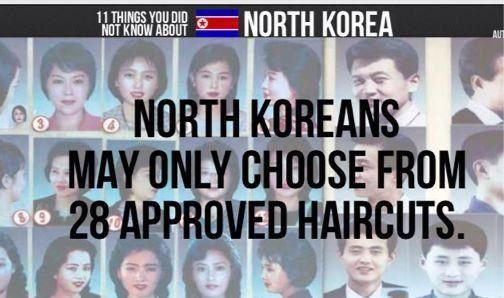 Approved North Korean Hairstyles Random Facts Other