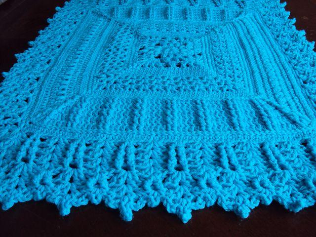 Free Crochet Pattern Heirloom Baby Blanket : Heirloom Coverlet Baby Blanket pattern Crochet - Baby ...