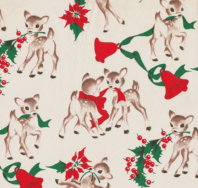 vintage wrappin... Vintage Christmas Wrapping Paper