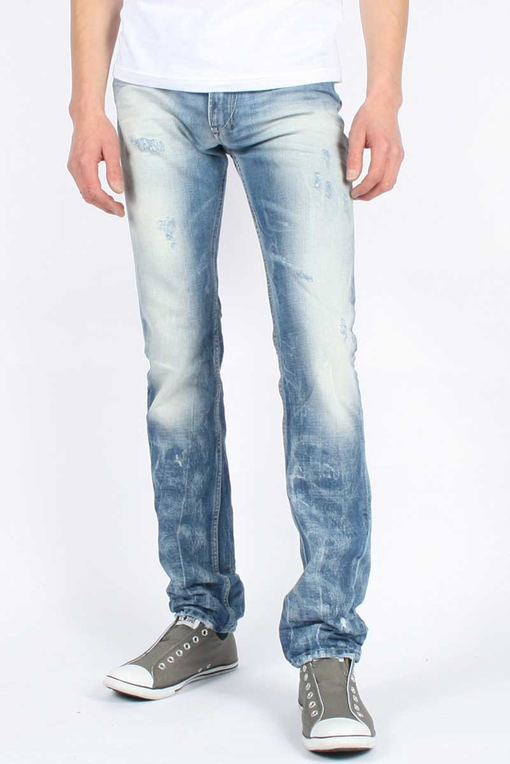 Diesel  Mens Shioner 0074Z Carrot Fit Denim Jeans