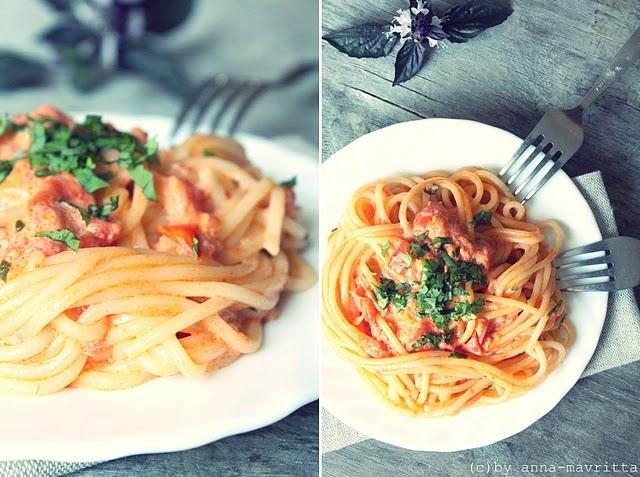 Spaghetti alla vodka | food for the mood | Pinterest