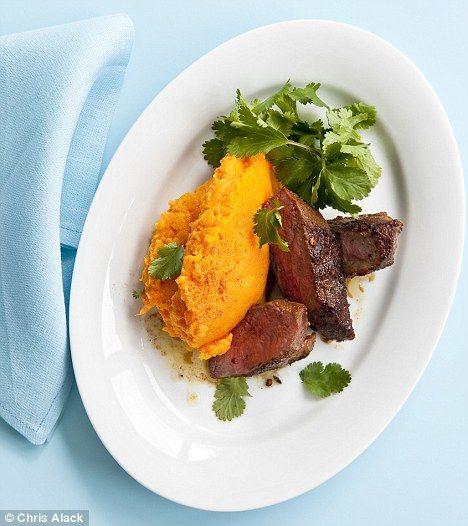 Recipe: Moroccan lamb tenderloin with spiced sweet potato mash