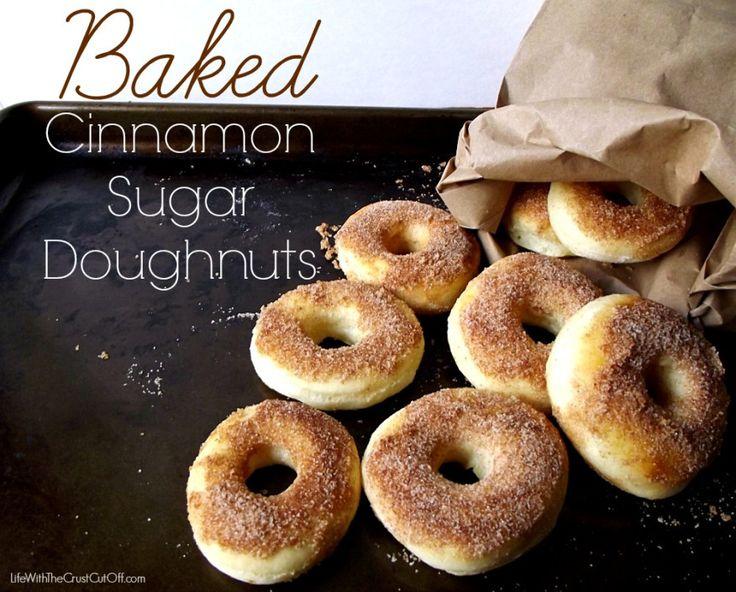 Baked Cinnamon Sugar Doughnuts | Recipe
