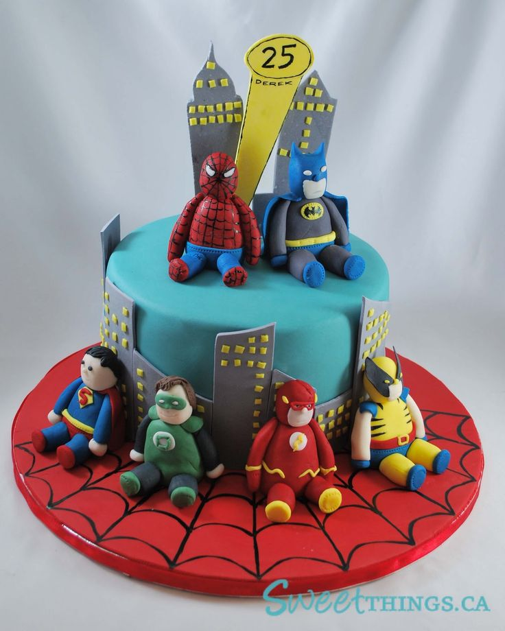 superhero cake.. i know someone who would love this cake